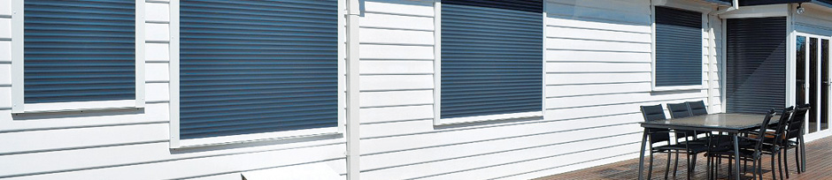 External shutters used to style a home.
